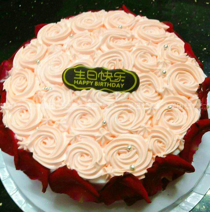 玫瑰蛋糕图片