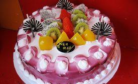 仅售60元!价值128元的12英寸水果鲜奶蛋糕1个,圆形。免费提供蜡烛1包+刀1把+蛋糕叉10把+小盘10包,美味齐分享。