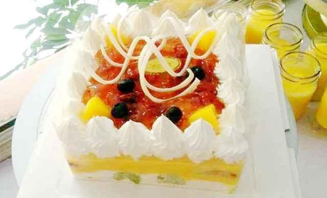 多城市】福盈门蛋糕冰激凌水果蛋糕1个,约8寸,圆形-福迎门蛋糕团