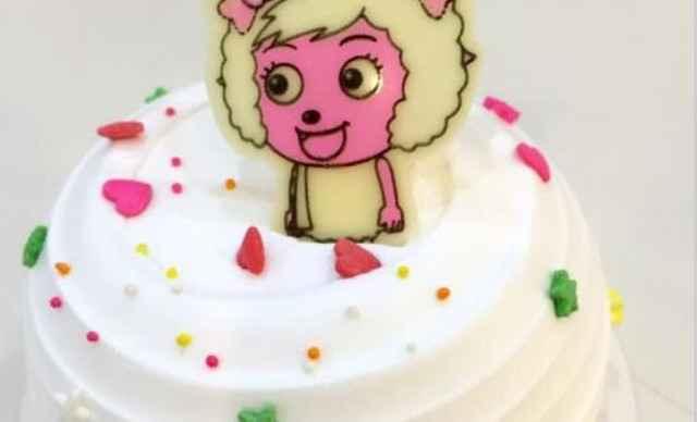 羊年新款蛋糕1个,约4英寸,圆形