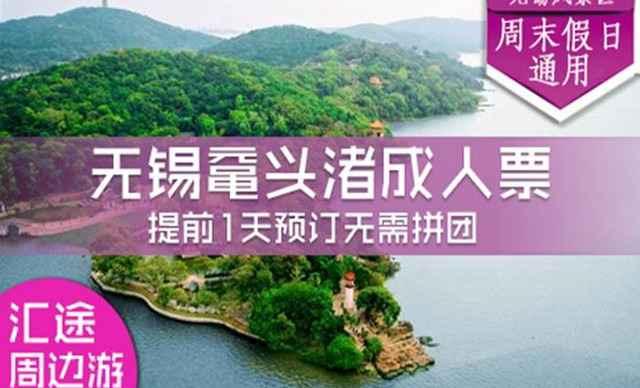 鼋头渚门票(无锡太湖国际樱花节,含游船,含景区大巴交通)