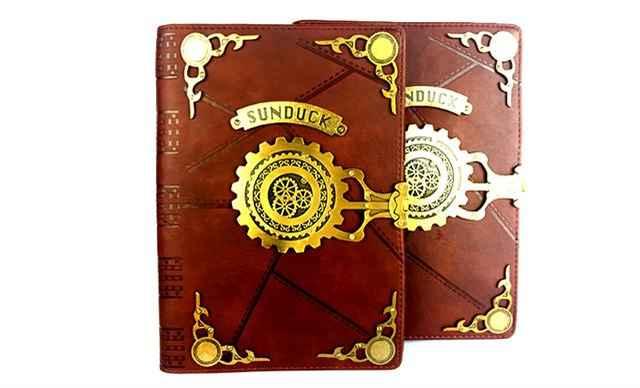 超能太阳鸭复古笔记本