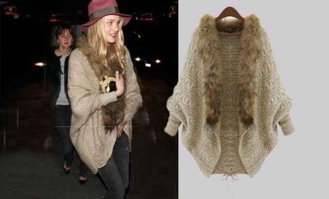 薇树蝙蝠衫开衫毛衣外套