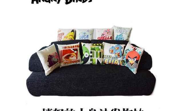 愤怒的小鸟沙发抱枕