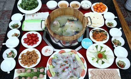 【广元张记雅安木桶鱼团购】张记雅安木桶鱼6-7人餐
