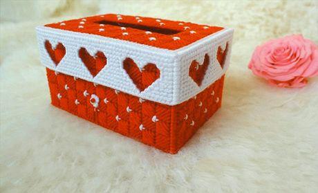 【北京向伦立体十字绣纸巾盒团购】向伦立体十字绣盒