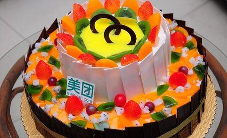 金巢面包生日蛋糕:双层欧式水果蛋糕1个