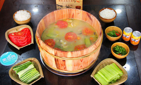 【曲靖雅府正红木桶鱼团购】雅府正红木桶鱼2人餐