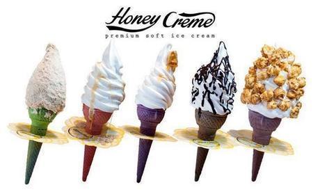 :长沙今日团购:【喜盈门/喜乐地】Honeycreme仅售14元!价值20元的冰淇淋套餐6选1,建议单人使用,提供免费WiFi。