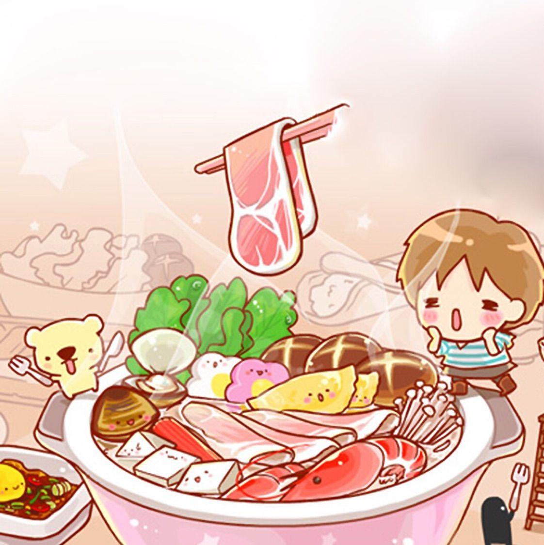 火锅背景图片卡通