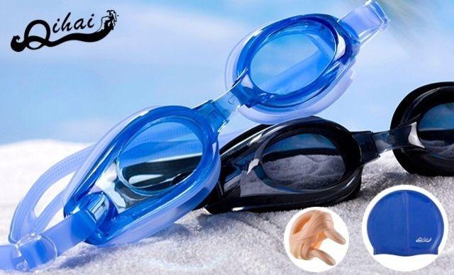 奇海高清防水防雾专业平光/近视泳镜,仅售39.9元!价值79元的奇海泳镜组合套装1套,奇海 平光/近视泳镜,聚碳酸酯镜片、可拆卸调节镜带、柔软硅胶垫圈、3D人体工程设计、防雾图层、超强韧带、保护贴膜。高清、防水、防雾、14个度数可选,150度-900度,送泳帽、鼻夹、耳塞。
