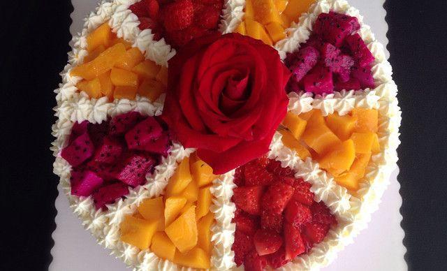 :长沙今日团购:【锡宝私房蛋糕】水果蛋糕1,约8英寸,