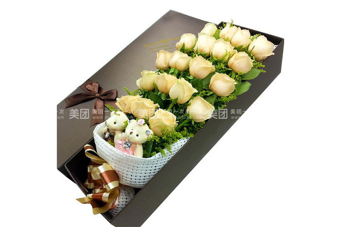玫瑰花+高档礼盒包装