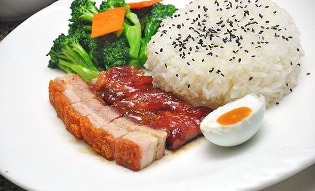 【福记加盟店】美食拼叉随心1份,烧肉烧腊烧饭店铺萦绕美味图片