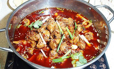 贵阳辣子鸡火锅4人餐,节假日通用