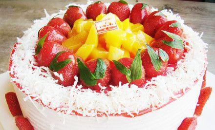 欧式水果蛋糕1个,节假日通用