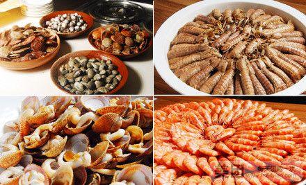:三文鱼、西陵鱼籽、金枪鱼……   铁板烧   :虾爬子、大虾、毛蛤、