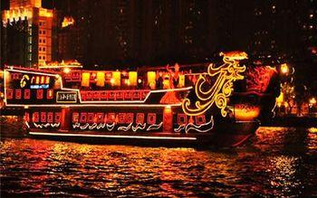 【客村/赤岗】珠江夜游广州塔码头超豪华仿古南海神号含晚餐成人票-美团