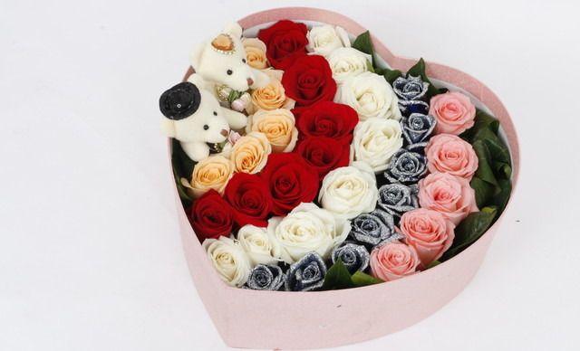 :长沙今日团购:【绿韵花艺鲜花店】Onlyyou鲜花33支玫瑰花盒198元套餐