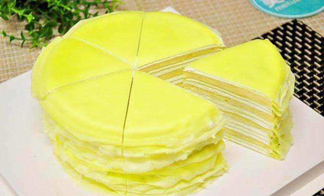 :长沙今日团购:【勺子甜品】榴莲千层1个,约8英寸,圆形