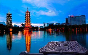 【其它】日月双塔文化公园门票+两江四湖景区夜场空调软席A等座船票(成人票)-美团
