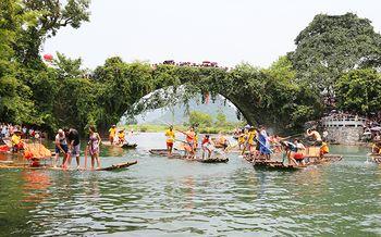 【遇龙河景区】遇龙河漂流门票+竹筏船票(成人票)-美团