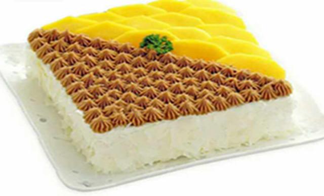 :长沙今日团购:【多喜来】芒果栗子1个,约8英寸,方形