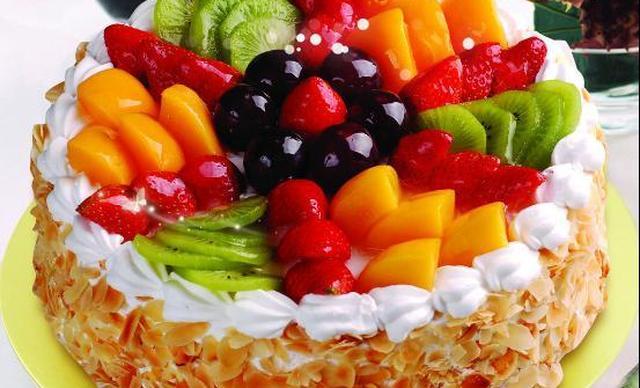 【74店通用】诺琪贝尔什锦水果蛋糕1个,约12英寸,圆