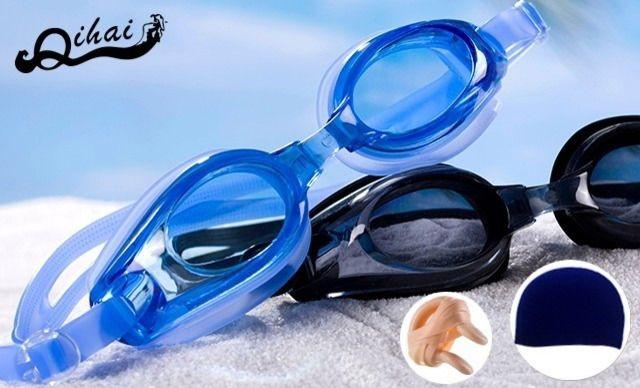 奇海泳镜组合套装,仅售39.9元!价值79元的奇海泳镜组合套装1套,【包 邮】奇海正品高清防水防雾男女通用平光/近视游泳镜 送(泳帽、鼻夹、耳塞)一次购物,满足您所有需求,外出旅行的必备品