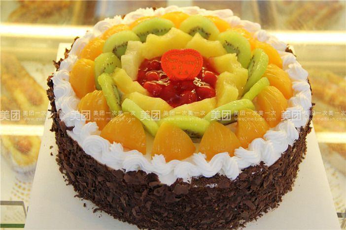 美食团购 甜点饮品 名代蛋糕   精品水果蛋糕规格:约10 英寸 1,圆形