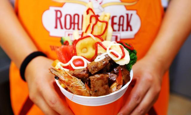 【力盟步行街】韩国Road&Steak牛排杯诺德牛排杯1份1份,提供免费WiFi
