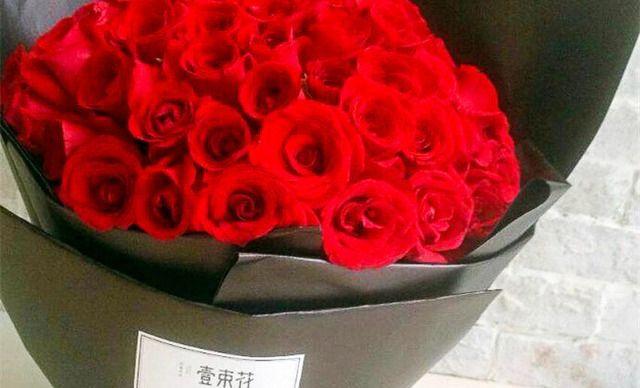 【壹束花】33朵红玫瑰花束1次