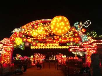 【通州区】第五季龙水凤港恐龙彩灯艺术节门票成人票-美团