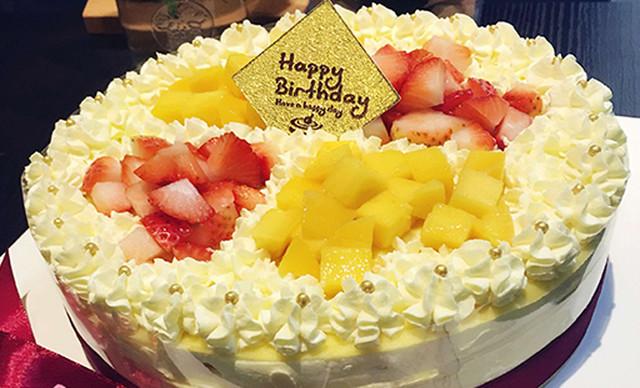 :长沙今日钱柜娱乐官网:【Miss L咖啡馆】鲜果牛乳蛋糕1个,约8英寸,圆形/方形
