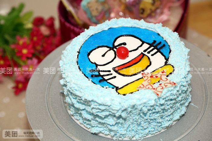 6寸手绘模版蛋糕