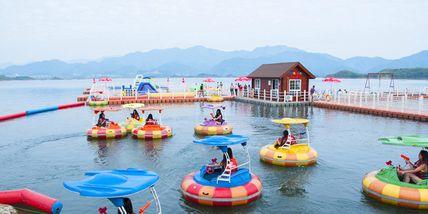 【淳安县】千岛湖欢乐水世界豪华电瓶船成人票-美团