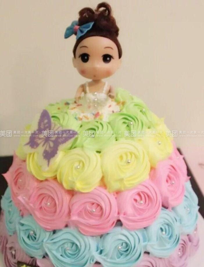 【兰州糖糖烘焙团购】糖糖烘焙多层可爱娃娃蛋糕团购