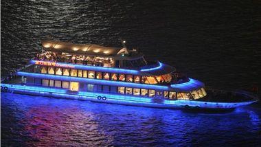 【陆家嘴】东方明珠码头夜景豪华游览船成人票-美团