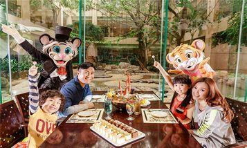 【全国】长隆欢乐世界周末\节假日门票+白虎自助餐厅晚餐成人票-美团