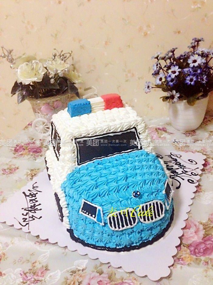 宝马警车蛋糕图片