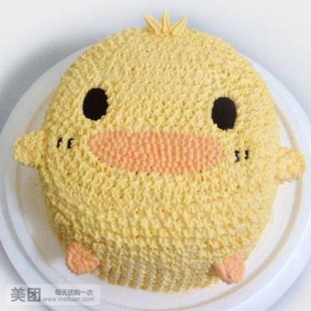 可爱小鸡蛋糕图片