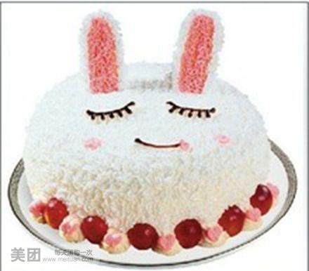 小兔子蛋糕可爱的