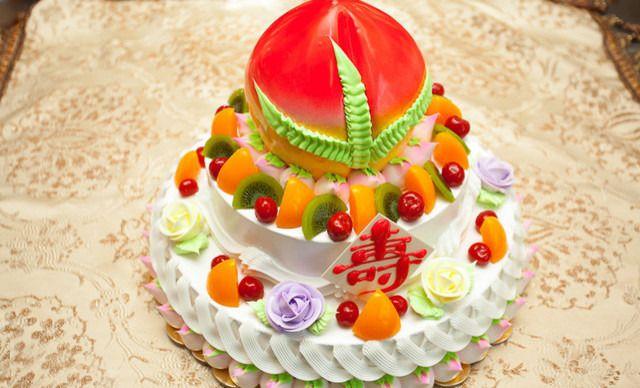 蛋糕 经济开发区/仅售268元!价值318元的三层寿桃蛋糕1个,约14英寸,圆形