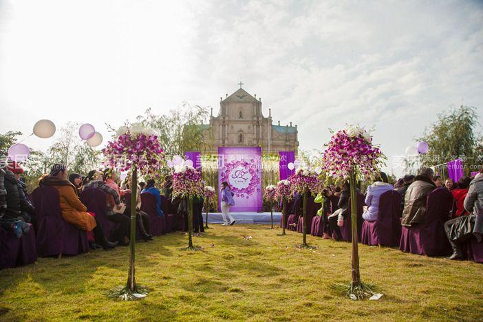 欧式婚礼交接区