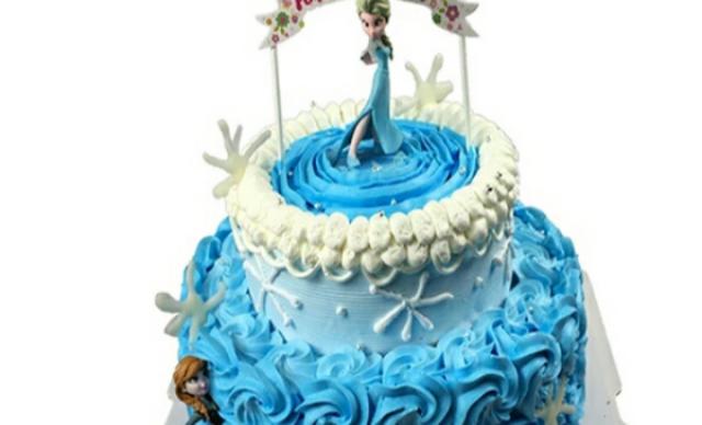 :长沙今日钱柜娱乐官网:【爱礼蛋糕】10英寸双层冰雪奇缘1个,约10英寸,圆形