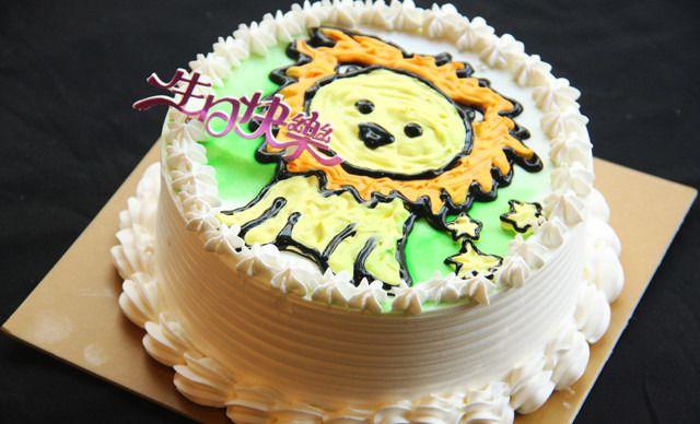 12星座创意手绘蛋糕1个