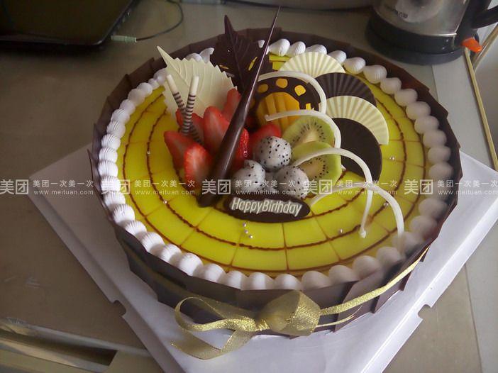 欧式四方水果蛋糕2016图片