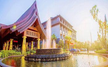 【象湖】天沐温泉大酒店水会门票+西餐厅自助晚餐(成人票)-美团
