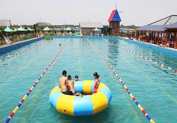 【渭城】田园游泳水上乐园门票+男士泳裤成人票-美团