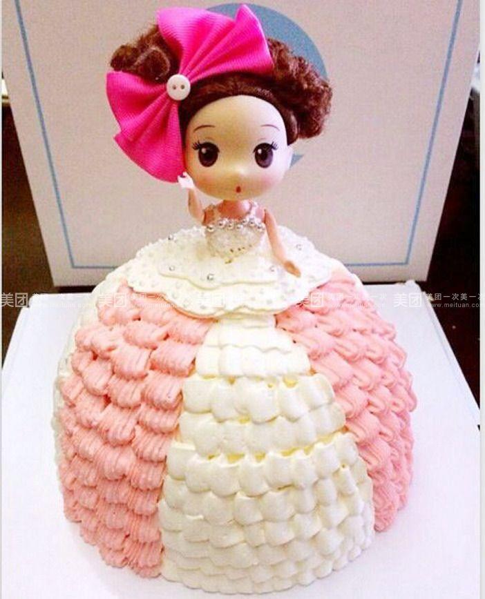 小芭比娃娃蛋糕图片